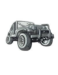 Lanxy Men's Fashion SUV Jeep 3D Car Model Metal Belt Buckle