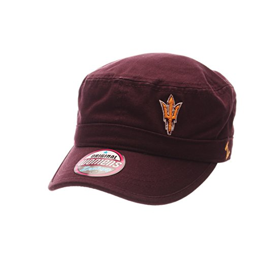 Cap Sun Devils State Arizona (Zephyr NCAA Arizona State Sun Devils Adult Women Women's Cadet Hat, Adjustable, Team Color)