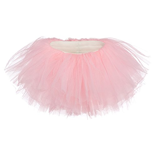 My Lello Little Girls 10-Layer Short Ballet Tulle Tutu Skirt (4 mo. - 3T) -Light - Cake Girls Layered