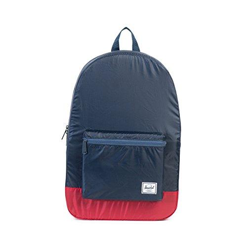Herschel Packable Daypack Backpack, Navy/Red