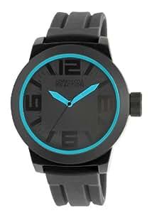 Kenneth Cole REACTION RK1234 - Reloj analógico de cuarzo para hombre, correa de silicona color negro (agujas luminiscentes)