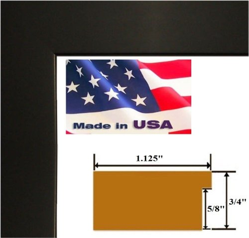 18x24 Black 1.125 inch Wide Picture Poster Photo Frame Solid Wood #SldWd1 by US Art