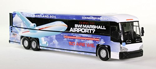 Iconic Replicas HO Scale MCI D4505 Bus: Maryland Transit Authority (MTA) BWI Airport Bus ()