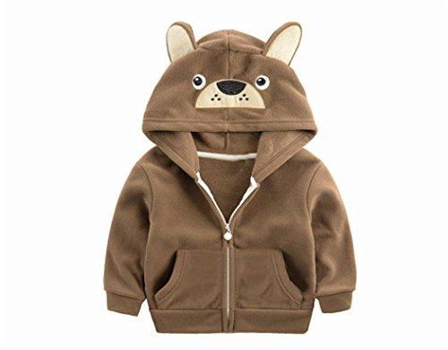 Little Boy Girls Cardigan Coat Bear Jacket Bbay Hoodies Zip-up Clothes Sweatshirt