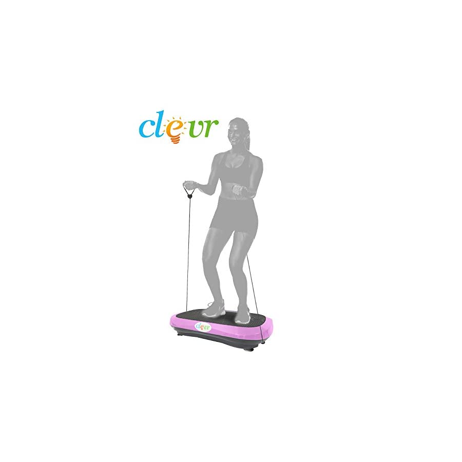 Clevr Ultraslim Pink Crazy Fit Full Body Vibration Platform Massage Machine MP3 Player