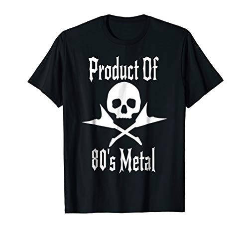 Product Of 80's Metal Music Flying V Vintage Guitar Skull T