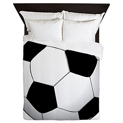 CafePress - Soccer01 - Queen Duvet Cover, Printed Comforter Cover, Unique Bedding, Microfiber by CafePress