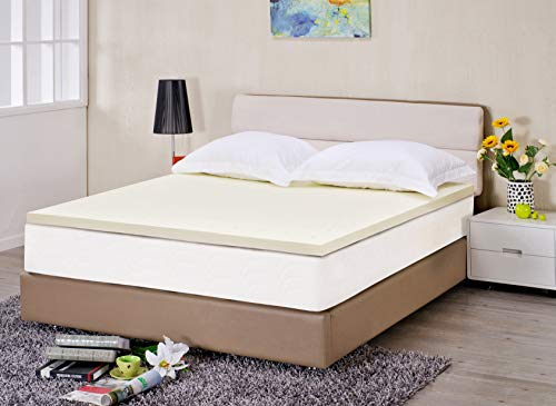Price comparison product image GoLinens Luxury High Density Memory Foam 2 Inch Mattress Topper All Around Pressure Relief - Queen