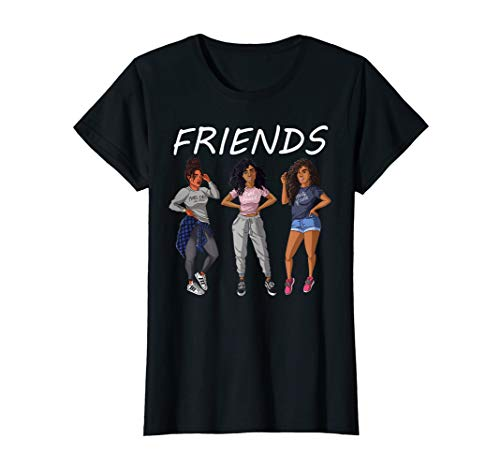Girls Friends Afro Black Woman Tshirt And Gift