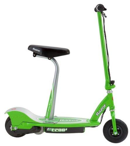Amazon Com Razor E200s Seated Electric Scooter Green 37 X 16 X 42