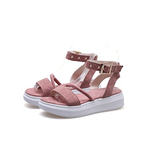 Indy Heel Informale Toe Donna amp;s Pink Peep Mei Sandali Chunky qwvOax8