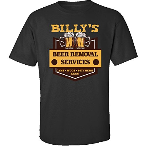 (Billy S Beer Removal Service Cans Mugs Pitchers Kegs - Adult Shirt L Black)