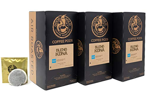 KONA BLEND COFFEE PODS - Good As Gold Coffee (3 Pack Special = 54 Kona Coffee Pods) ()
