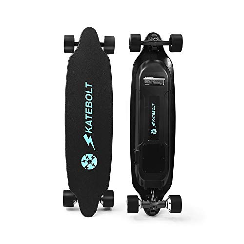 SKATEBOLT Electric Skateboard Longboard with Remote Controller, 25 MPH Top Speed, 18.6 Miles Range, Dual Motor, 8 Layers Maple with Updated Board