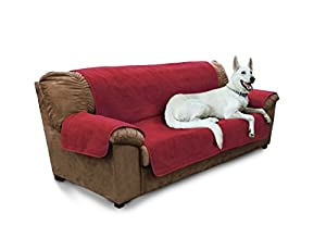 Amazoncom Furhaven Pet Products Home Sofa Protector Burgundy