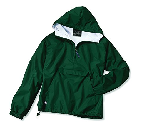 Charles River Apparel Women's Front Pocket Classic Pullover - Forest Green, Small