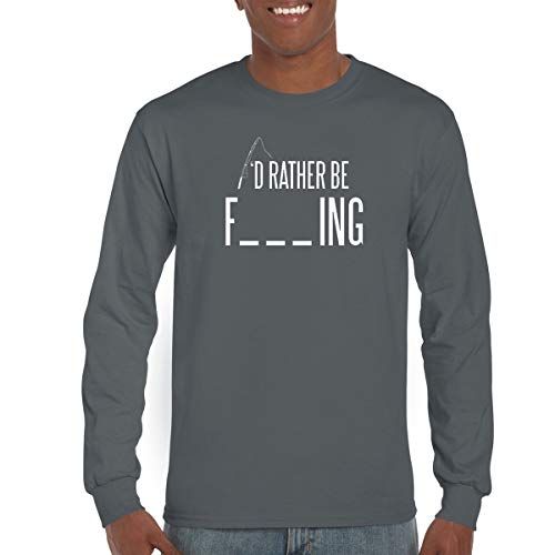 c54f0e60 Crazy Bros Tees CBTWear I'd Rather Be Fishing - Funny Sarcastic Fish Gift  for