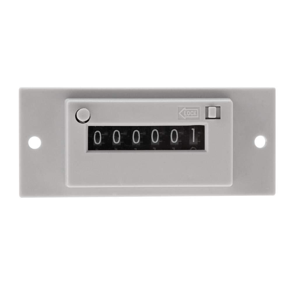 Compteur /Électromagn/étique AC110V # 01 Ac 220 V DC24V Compteur dImpulsions /Électromagn/étiques /à 6 Chiffres CSK6-YKW