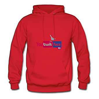 X-large Regular Red Sweatshirts For Women Cotton Different You Twit Face