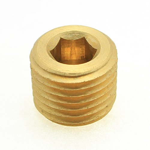 British Parallel Thread Brass Countersink Pipe Plug 1/2