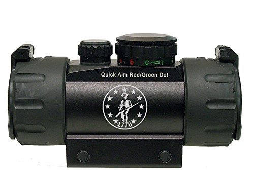 1776 Patriot With Stars In Circle Engraved Leapers UTG Red or Green DOT CQB Tactical sight by NDZ Performance
