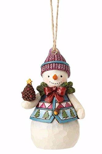 Enesco 4058831 Mini Snowman with Pinecone Ornament, Multicolor]()