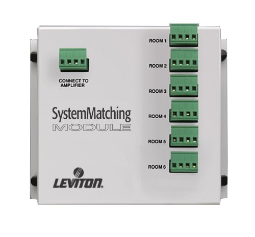 Leviton SGAMP System Matching Module (For Use with Non-Impedance Matched Volume Controls SGVST), White (Leviton Decora Media System)