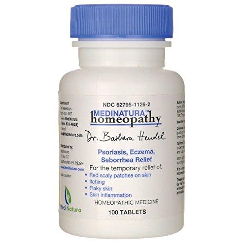 Dr. Barbara Hendel Psoriasis/Eczema/Seborrhea Tablets, 100 Count - Homeopathic Remedies Psoriasis