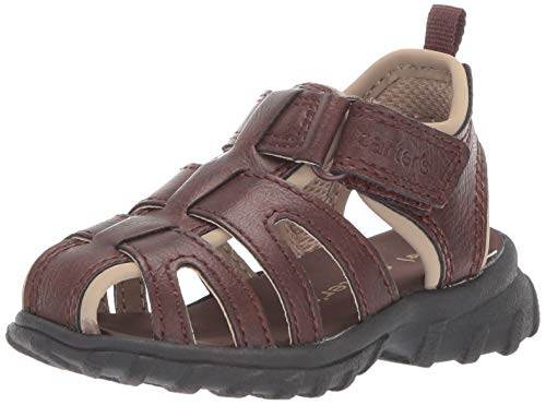 carter's Boy's Douglas Casual Fisherman Sandal, Brown, 7 M US Toddler