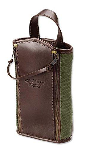 Orvis Bootlegger Leather & Canvas Travel Kit, Olive