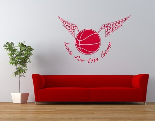 Love For The Game Wall Decal by Style & Apply - Wall Sticker, Vinyl Wall Art, Home Decor, Wall Mural - S102 - 20in x 13in, Brown