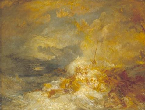 Oil Painting 'Joseph Mallord William Turner - A Disaster At Sea,1835', 12 x 16 inch / 30 x 40 cm , on High Definition HD canvas prints is for Gifts And Dining Room, Foyer And Powder Room Decoration