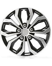 4 x wieldoppen Unitec Daytona zwart/zilver 16 inch