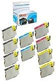 Toner Clinic ® TC-T060 10PK 4 Black 2 Cyan 2 Magenta 2 Yellow Remanufactured Inkjet Cartridge for Epson T060 60 #60 T0601 T0602 T0603 T0604 Compatible With Epson Stylus C68 C88 C88+ C88Plus CX3800 CX3810 CX4200 CX4800 CX5800 CX5800f CX7800 D68P D88 D88+ D88Plus DX3800 DX4800 T060120 T060220 T060320 T060420 – 10 Pack Remanufactured Inkjet Cartridges, Office Central