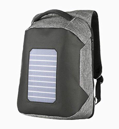 WYXIN Männer Rucksack Solarbetriebene Rucksack Usb Lade Diebstahl 16  Laptop Rucksack für Männer Laptop Bagpack Wasserdichte Taschen Gray 8W05pcroQX