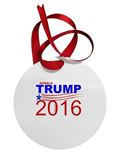 TOOLOUD Trump 2016 Circular Metal Christmas Ornament
