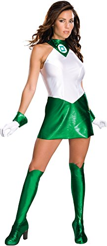 Secret Wishes Women's Green Lantern Adult Super Heroine Costume, Green/White, Medium -
