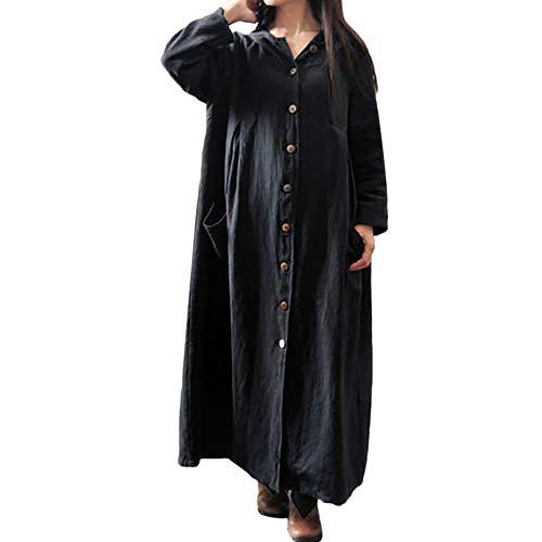 Sale! Teresamoon Women Hooded Casual Loose Long Maxi Dress Long Sleeve Dress Coat Jacket