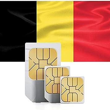 Tarjeta SIM de Datos de Alta Velocidad de 3GB de prepago para Europa Occidental (Austria, Bélgica, Alemania, Liechtenstein, Luxemburgo, Países Bajos, ...