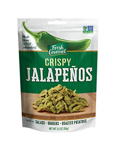 Fresh Gourmet Crispy Jalapenos, Lightly Salted, 3.5 Ounce (Pack of 6)