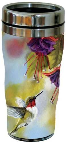 Stainless Steel Multicolored 16-Ounce Tree-Free Greetings 77020 Ruby and Fuchsia Collectible Art Sip N Go Travel Tumbler