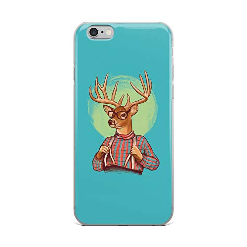 (iPhone 6 Plus/6s Plus Case Anti-Scratch Creature Animal Transparent Cases Cover Wise Deer Animals Fauna Crystal Clear)