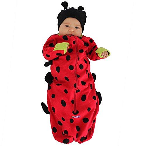 Sozo Baby Girls Ladybug Bunting & Hat Set, Multicolor, 0-6 Months