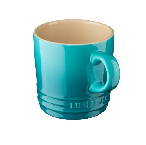 Le Creuset Stoneware Petite Espresso Mug, 3.5-Ounce, Caribbean