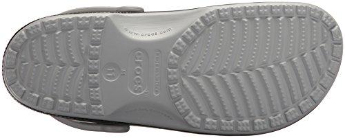 Crocs Unisexe Classique Carbone Graphique Sabot Gris Clair