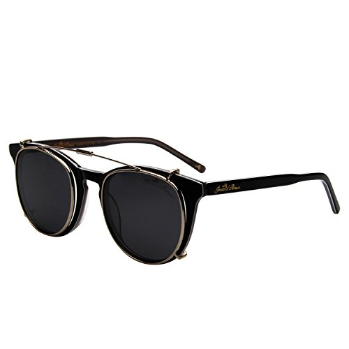 Jardin d'amour Designer Women Men Clear Lens Eyeglasses Frames Clip-On Round Sunglasses JS5105 - Clip Sunglasses Eyeglasses On Round For