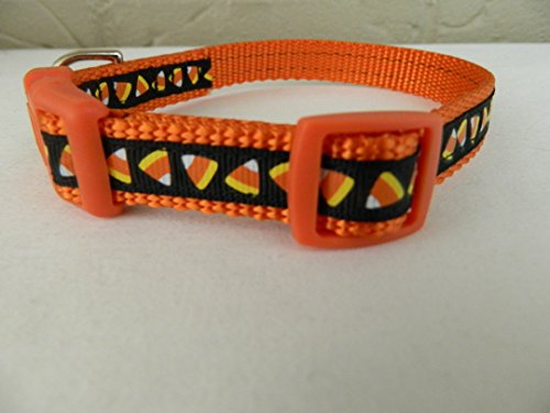 Schmoopsie Couture Mini Candy Corn Dog Collar (Small 5/8