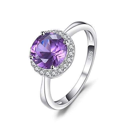 JewelryPalace Halo 2.9ct Created Alexandrite Sapphire Ring 926 Sterling...