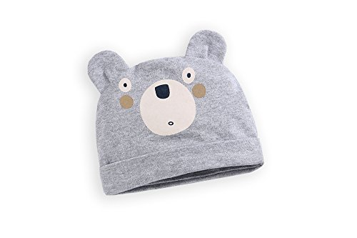 Newborn Baby Girls Boys Hat Bear Grey 100% Cotton Baby Gifts for infants and babies Newborn Unisex Baby Outfit Baby...