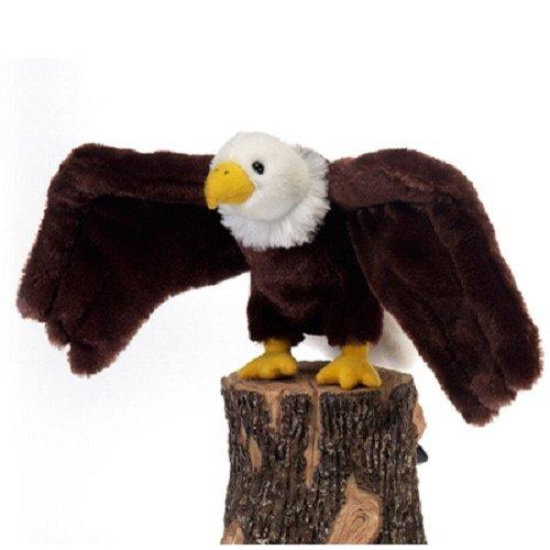 Fiesta Toys A36039D Bald Eagle Bird Stuffed Animal Plush Toy, 9